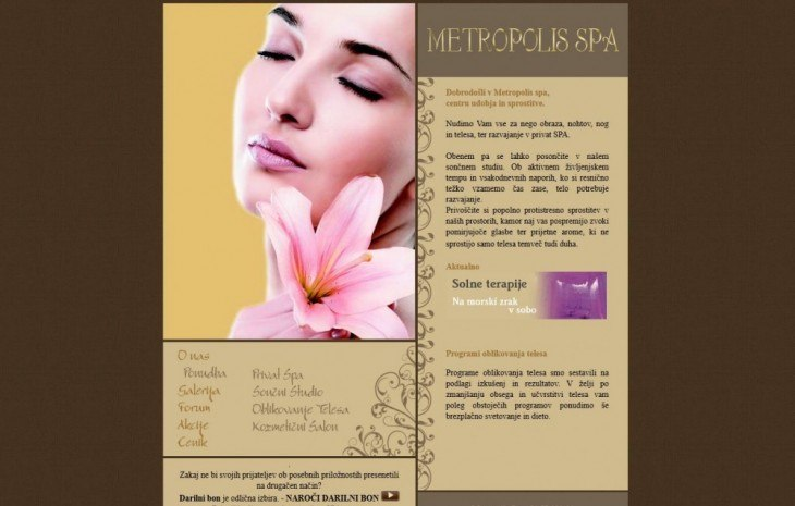 Metropolis SPA – old site
